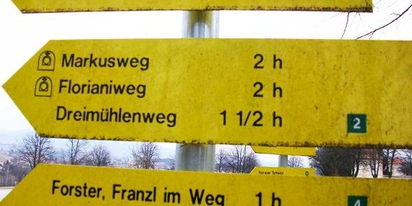 Hinweistafel Dreimühlenweg