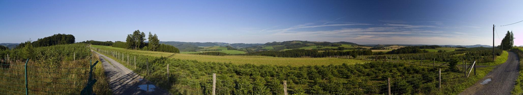 Panoramablick auf dem Reister Berg