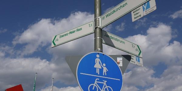 Radwegweisung in Waldkirchen