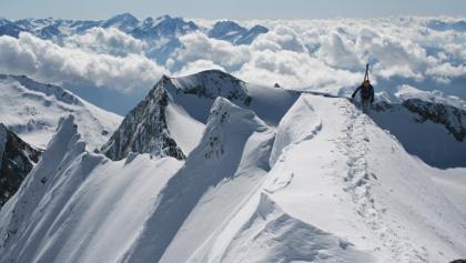 Ein erhabenes Gefühl - die letzten Meter zum Gipfel.