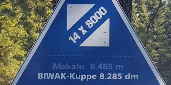 Biwak-Kuppe Schild