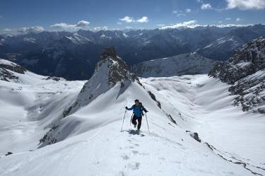 Die letzten Meter auf die Wolekleskarspitze