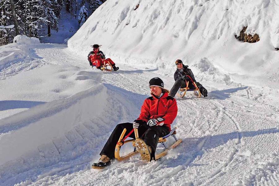Auf der Winterrodelbahn am Hocheck-©Autor: Yvonne Tremml, Quelle: Gemeinde Oberaudorf