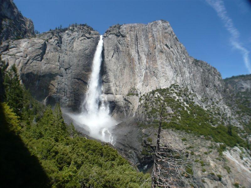 Blick auf den Upper Yosemite Fall