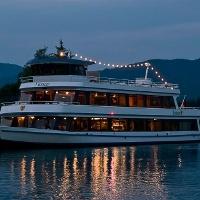 MS Füssen abends auf dem Forggensee
