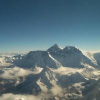 Der 8848 m hohe Gipfel des Mount Everest