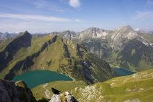 Die 14,5 km lange Drei-Seen-Tour...