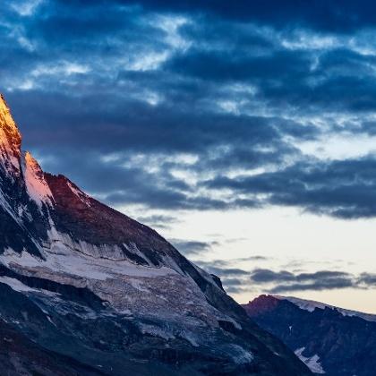 Abendwanderung am Matterhorn / Schweiz