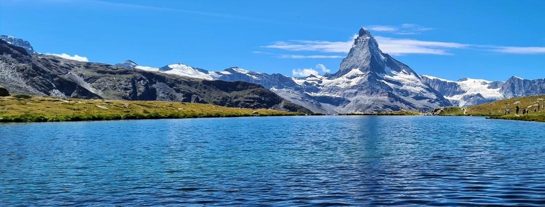 Wandern am Stellisee am Matterhorn in Zermatt