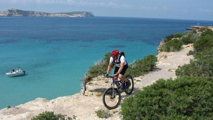 Biken auf der Insel
