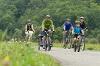 Familie auf dem Kocher-Jagst-Radweg   - © Quelle: Hohenlohe + Schwäbisch Hall Tourismus e.V.