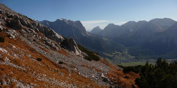 An der Upsspitze - Blick zur Zugspitze