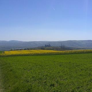 Blick auf Burg Kreuzenstein