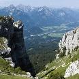Pfundige Berggegend in Gipfelnähe