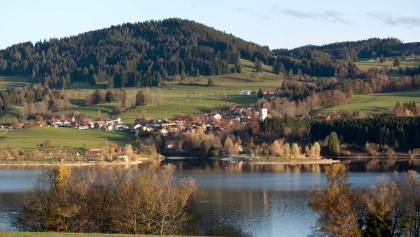 Ausblick von Moosbach über den Rottachsee