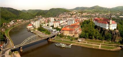 Foto Zámek Děčín z Pastýřské stěny