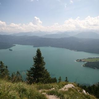 Blick zum Walchensee