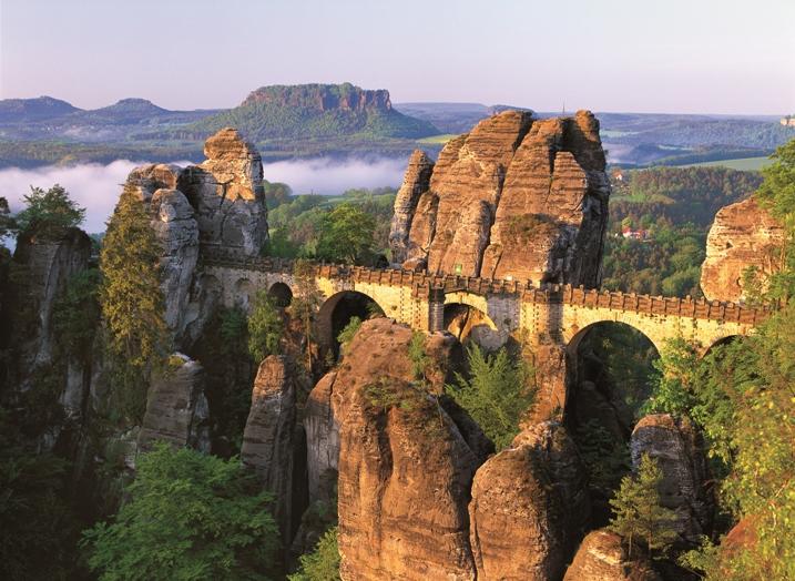 Foto Basteibrücke in der Sächsischen Schweiz