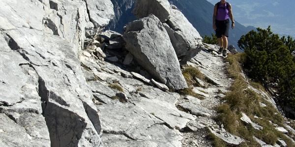 Beim Gipfelanstieg