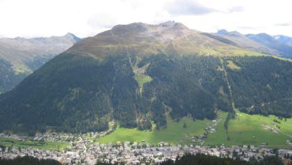 Etappe 16: Blick von oben auf Davos