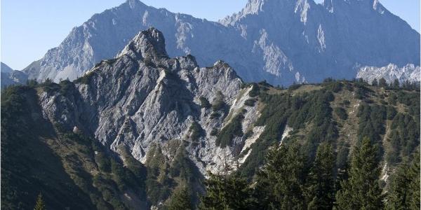 Gipfelschau vom Hochalplkopf zu Rappen(klamm)spitze und Wörner
