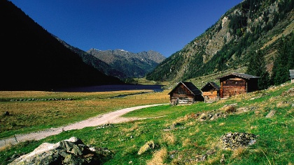 Riesach Lake in the Untertal valley, Rohrmoos