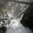Aussicht von der Holzbrücke am Unteren Riesachwasserfall