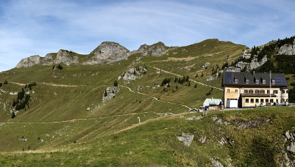 Panoramablick auf Rotwand und Rotwandhaus