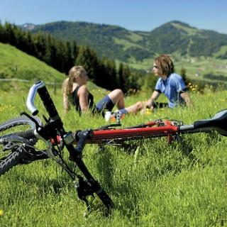 Mit dem Bike an der Salmaser Höhe