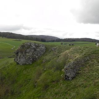 Ausichtpunkt auf dem Kalkstein