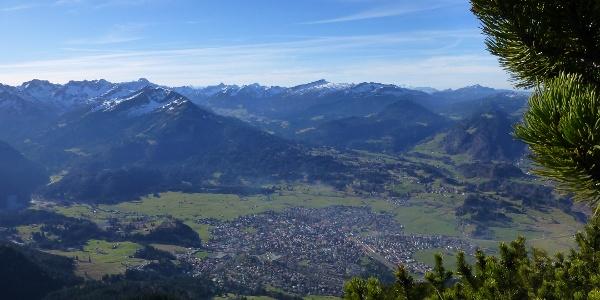 Blich auf Oberstdorf beim Aufstieg