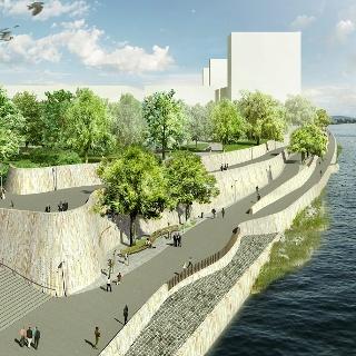 Visualisierung Rheinuferpromenade St. Johann