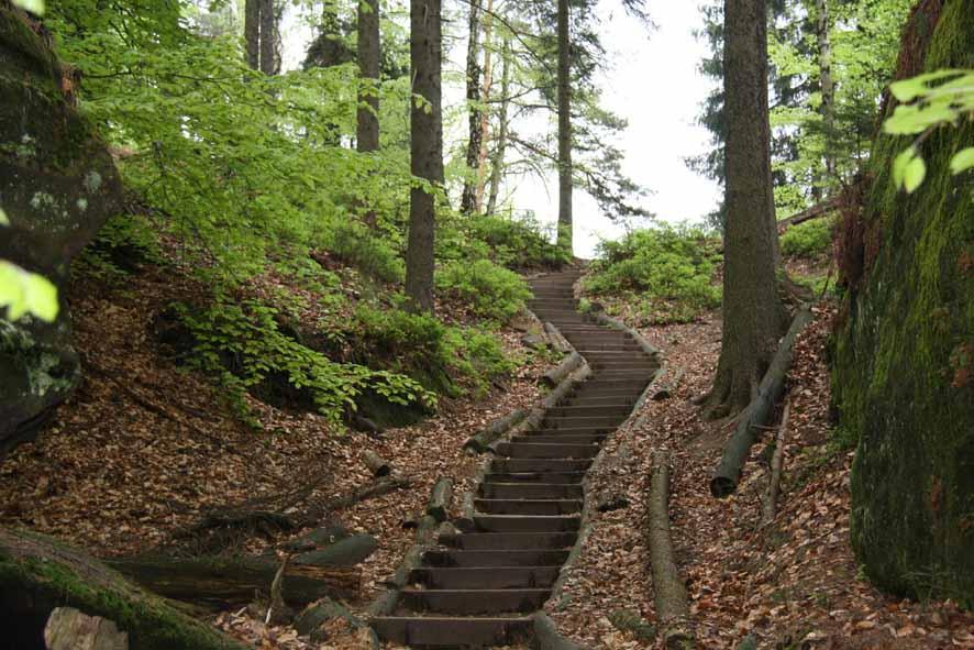 Stufen vom Lattengrund