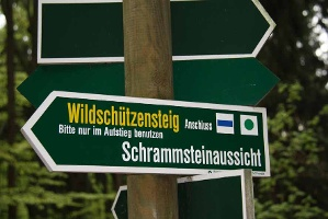 Foto Wegpfeiler Wildschützensteig