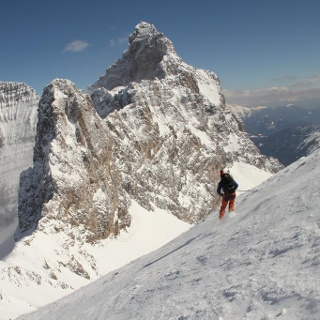 Abfahrt Gipfelhang Pflerscher Pinggl