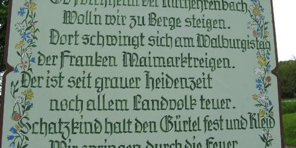 Der Spruch entführt uns zum Walburgistag am 1. Sonntag im Mai!