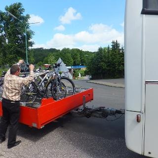 Ankunft mit dem RegioRadler in Hermeskeil