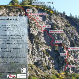Topo des Bergkameraden-Steigs