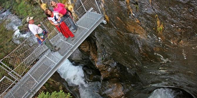 Aussichtsstege Alpinsteig durch die Höll