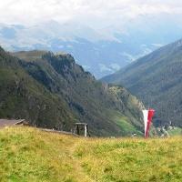 Blick ins Tal von oberhalb der Schneid Alm