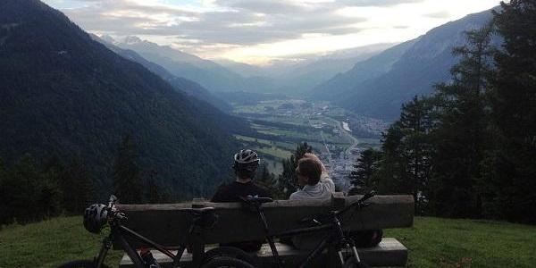 Aussicht am Ziel ins Churer Rheintal
