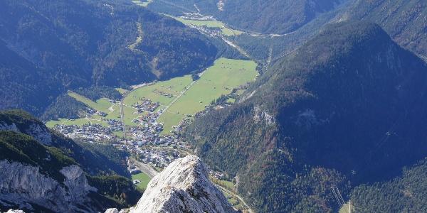 Tiefblick nach Scharnitz