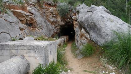 Die Tunnelroute am Torrent Almadrà