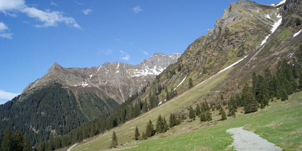 Blick vom Valzifenztal zum Schmalzberg