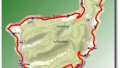 Übersichtsbild Fleckenstein Tour