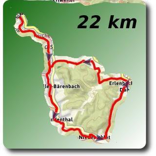 Übersichtsbild Felsenburgen Tour