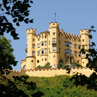 Schloss Hohenschwangau bei Füssen im Allgäu
