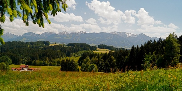 View onto the Bavarian Alps