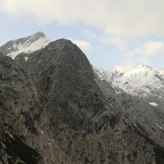 Alpspitze und Jubiläumsgrat von Schwarzenkopf