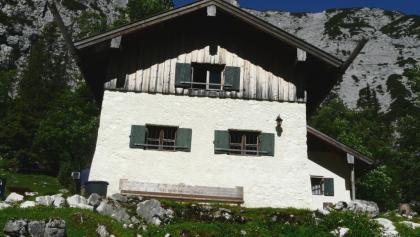 Die Oberreintalhütte.